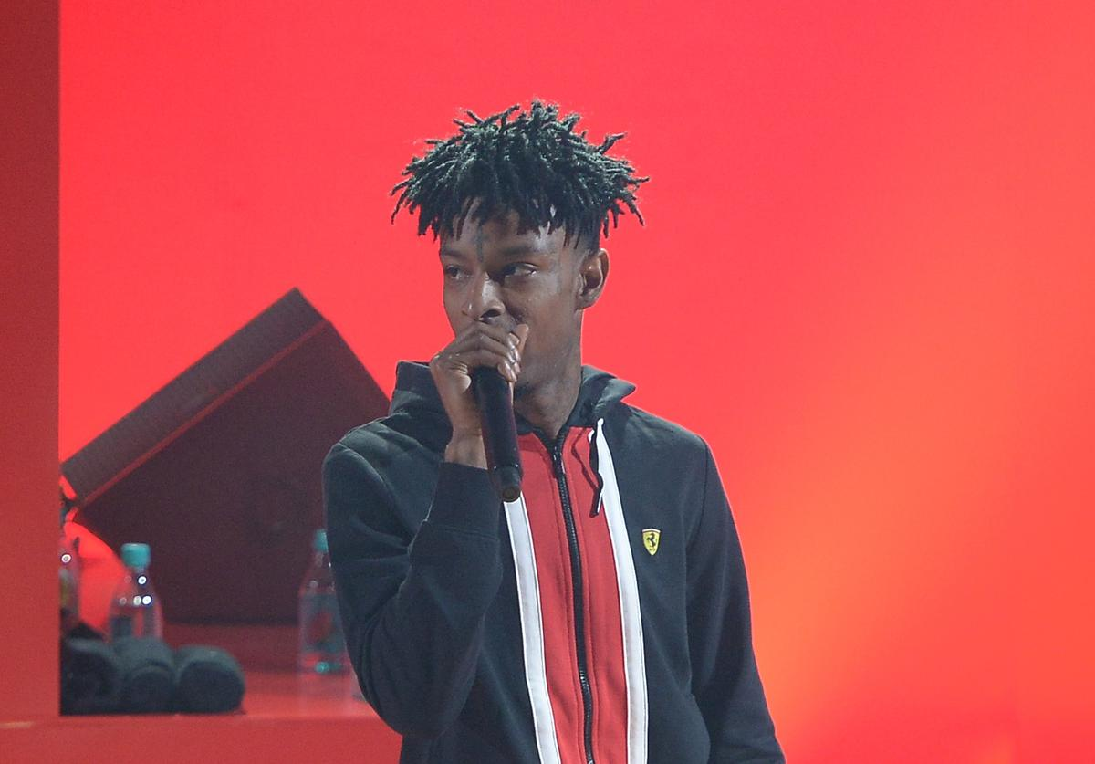 21 Savage at iHeartRadio album release party with Migos