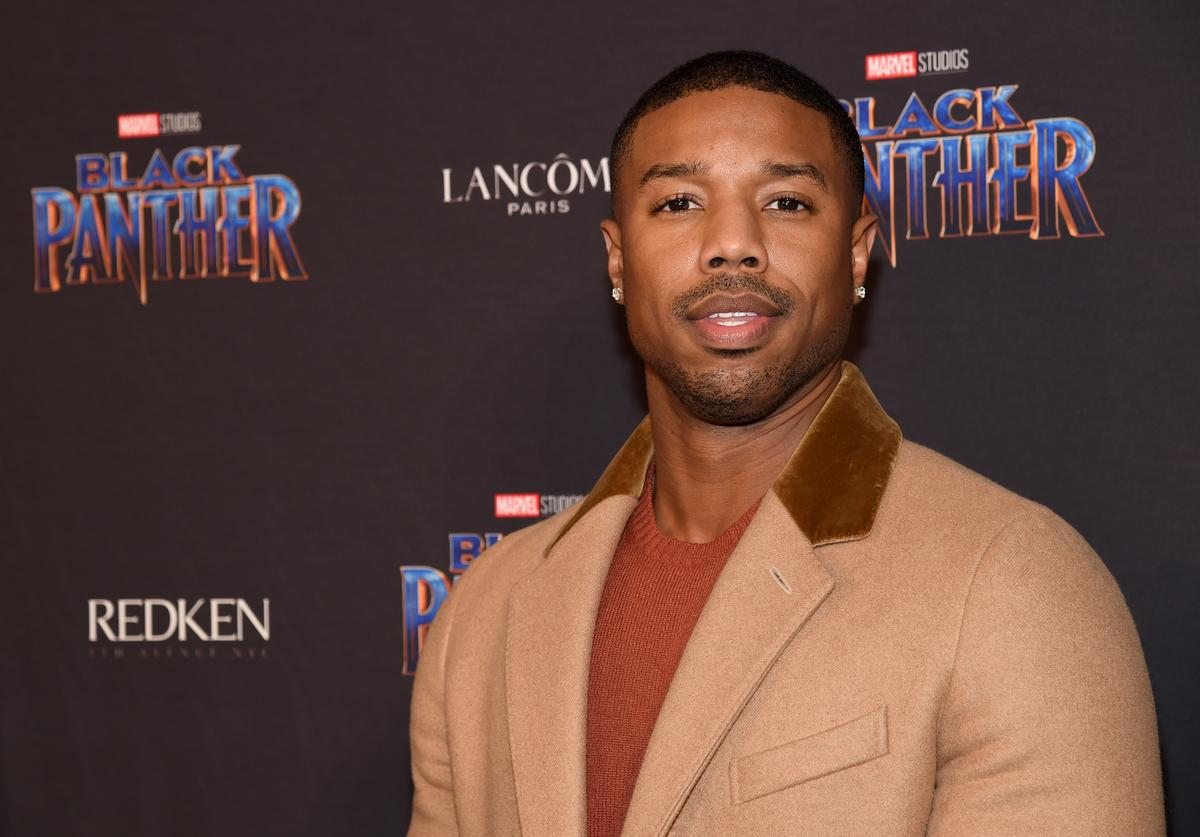 Michael B Jordan of Back Panther movie