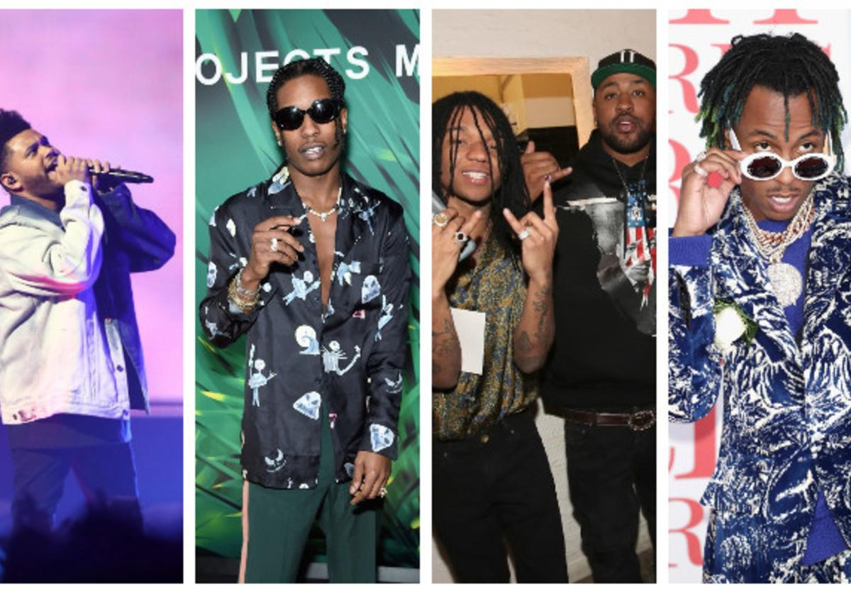 The Weeknd, ASAP Rocky, Mike WiLL & Rich the Kid are all FIRE EMOJI
