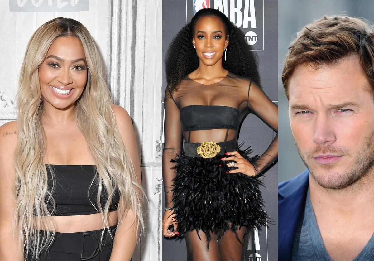 Lala, Kelly Rowland & Chris Pratt