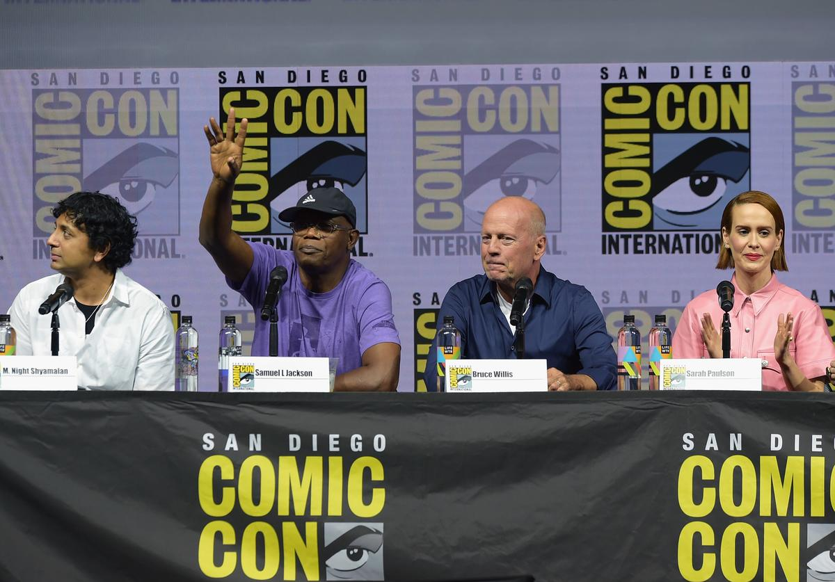"""The cast of """"Glass"""" at Comic-Con 2018"""