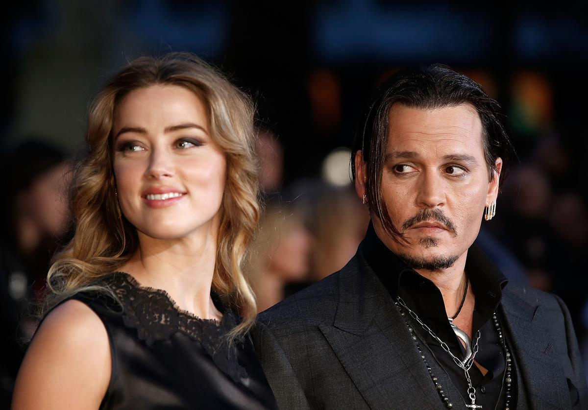 Amber Heard & Johnny Depp at a movie premiere together