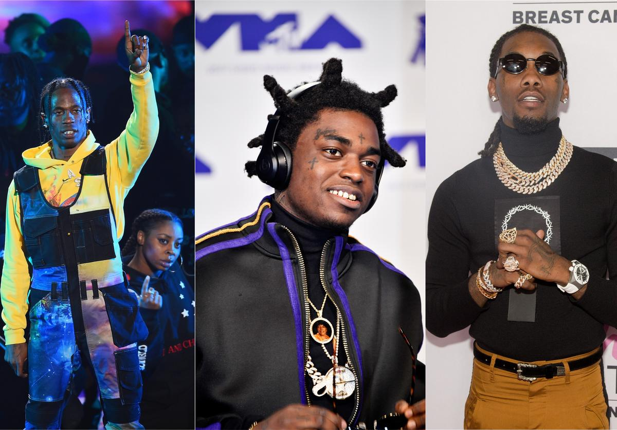 collaborators Travis Scott, Kodak Black and Offset