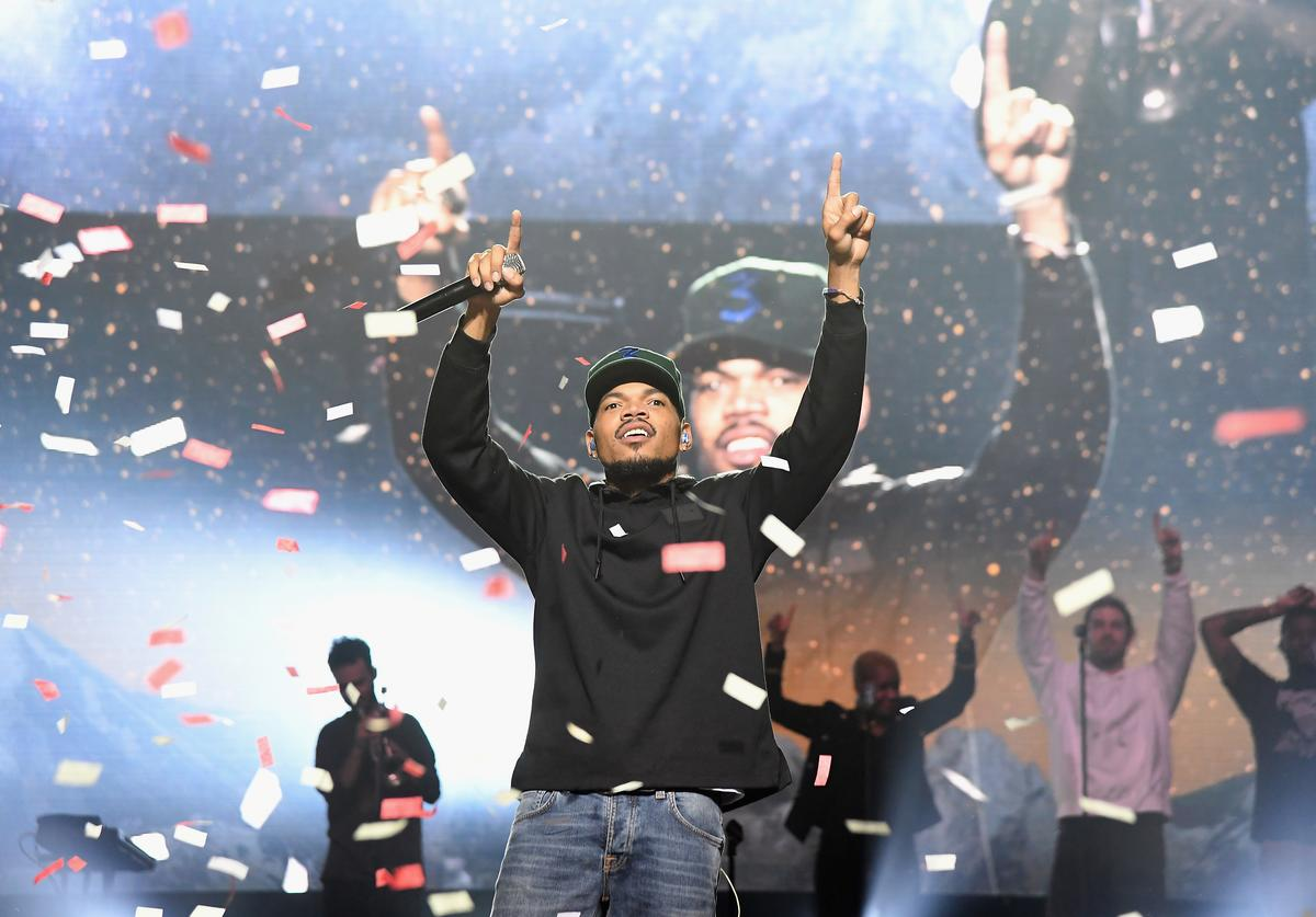 Chance The Rapper performs onstage during Chance The Rapper to Headline Spotify's RapCaviar Live In Brooklyn in Partnership with Live Nation Urban and Verizon on September 29, 2018 at Ford Amphitheater at Coney Island Boardwalk in Brooklyn, New York.