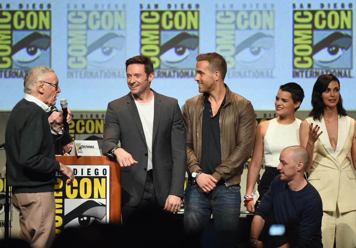 Stan Lee, Hugh Jackman, Ryan Reynolds