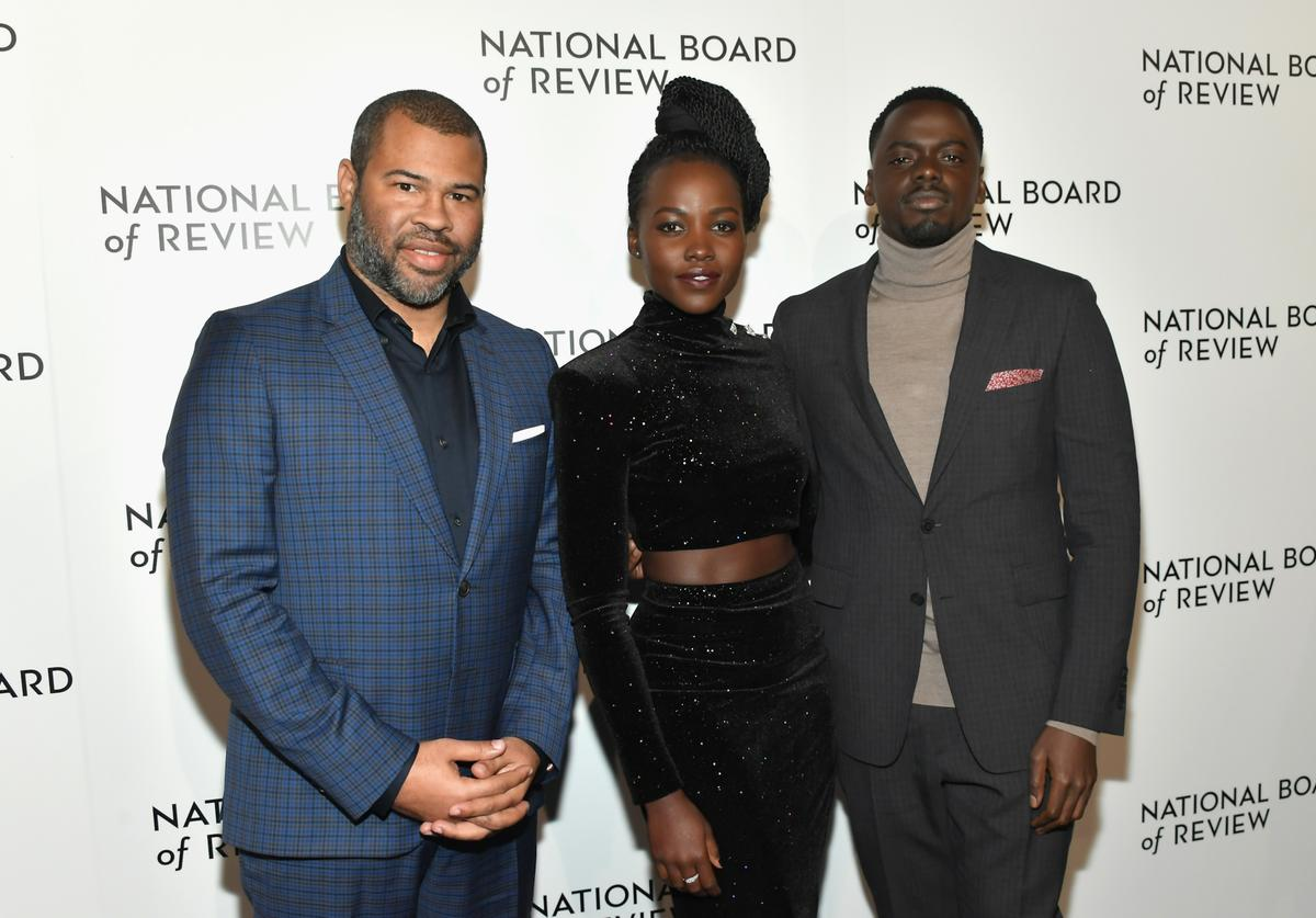 Jordan peele and lupita nyogno