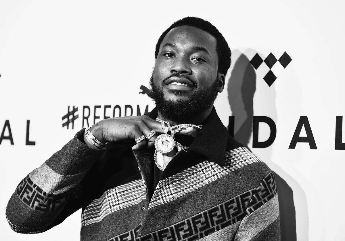 Meek Mill black and white pic