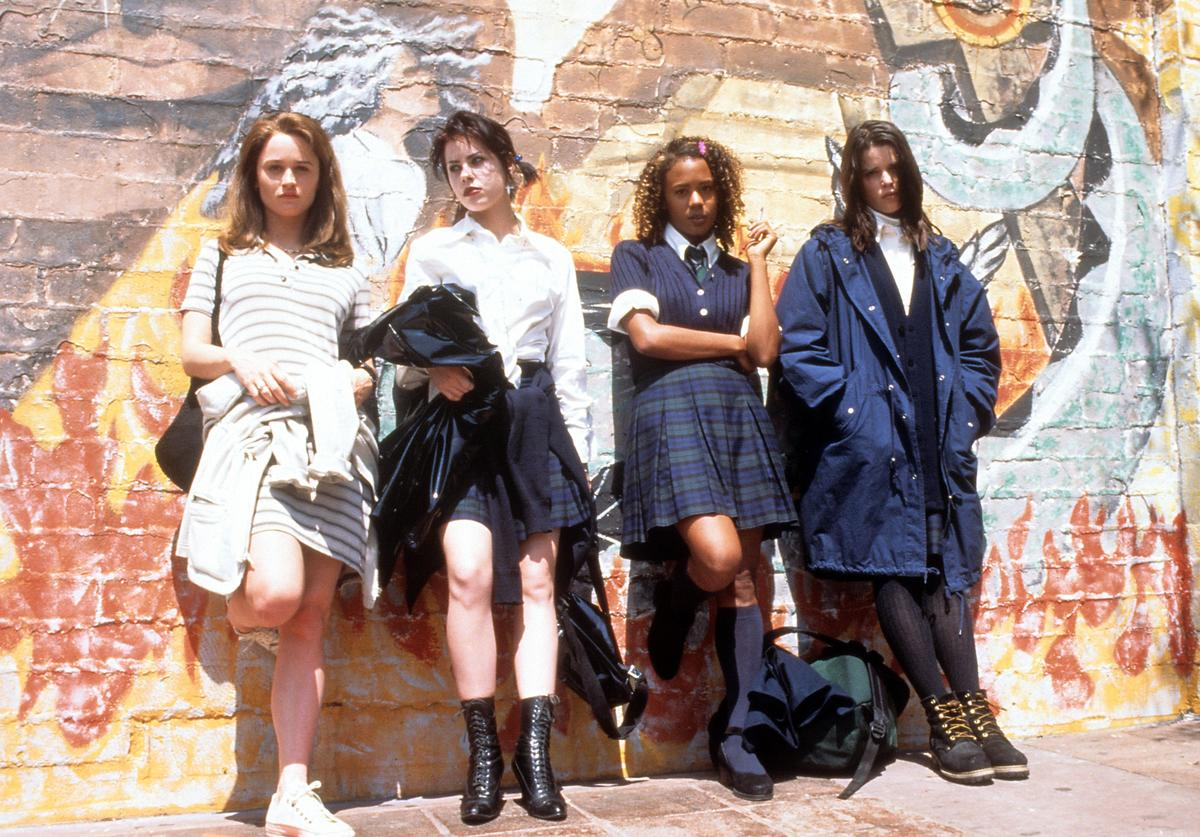 Robin Tunney, Fairuza Balk, Rachel True and Neve Campbell in a scene from the film 'The Craft', 1996