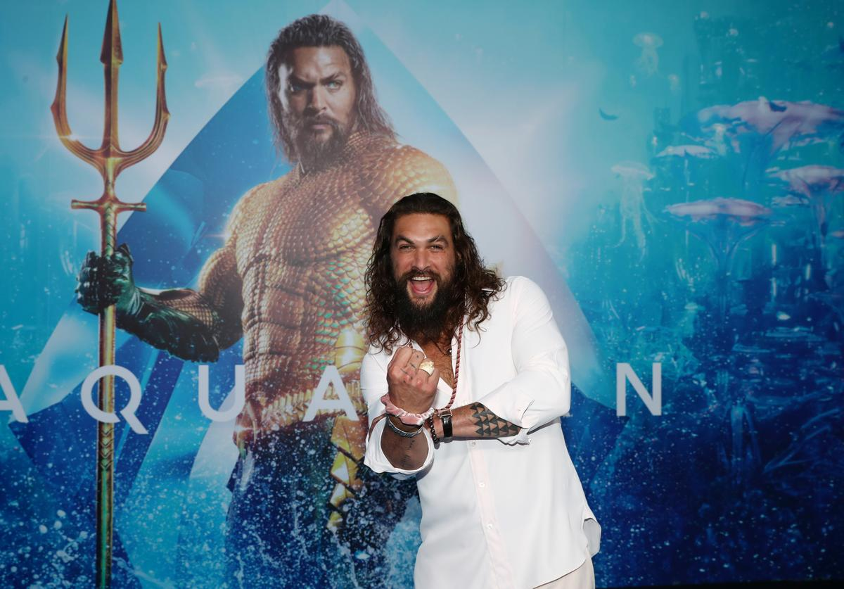 Jason Momoa in action