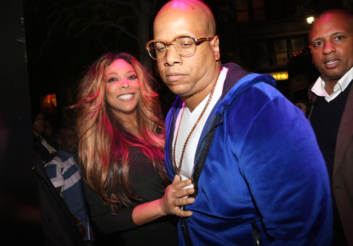 Wendy Williams, Hunter Kevin and Carlos Narcisse attend the 'Ask Wendy' Book Release Party at Pink Elephant on May 9, 2013 in New York City