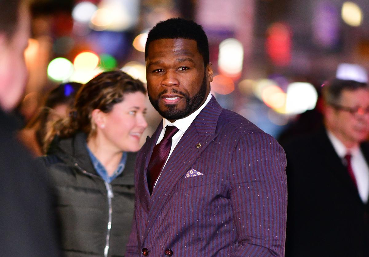 50 Cent arrives to 'The Late Show With Stephen Colbert' at the Ed Sullivan Theater on January 9, 2019 in New York City