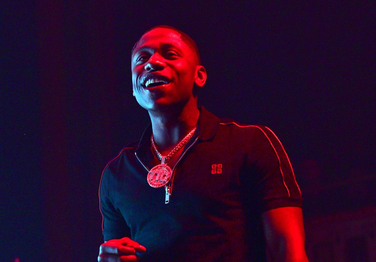 Q Money performs at Young Dolph in Concert at The Tabernacle on January 25, 2019 in Atlanta, Georgia