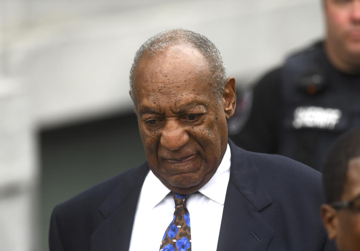 Bill Cosby departs the Montgomery County Courthouse on the first day of sentencing