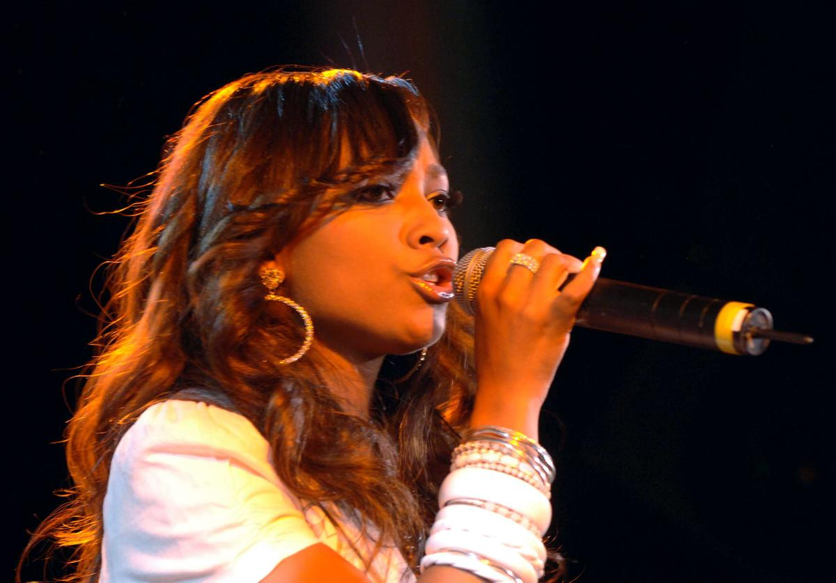Teairra Mari performs at the Shawn 'Jay-Z' Carter Hosts Teen People Listening Lounge at the Canal Room on July 20, 2005 in New York City