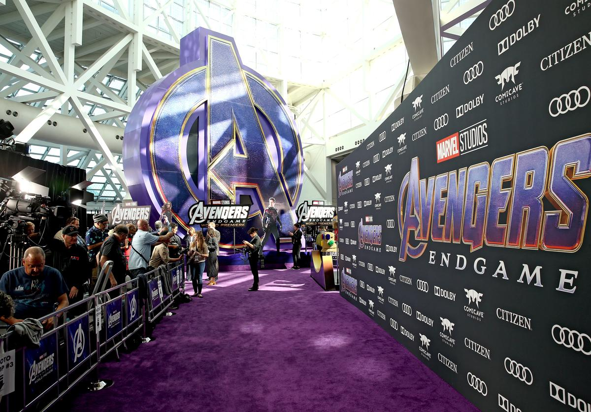 View of the atmosphere inside the Los Angeles World Premiere of Marvel Studios' 'Avengers: Endgame' at the Los Angeles Convention Center on April 23, 2019 in Los Angeles, California