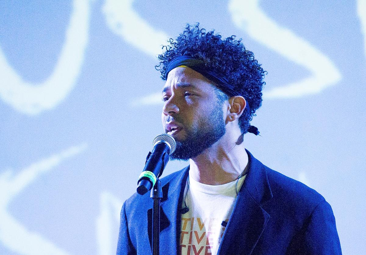 Performer Jussie Smollett performs onstage at SOB's