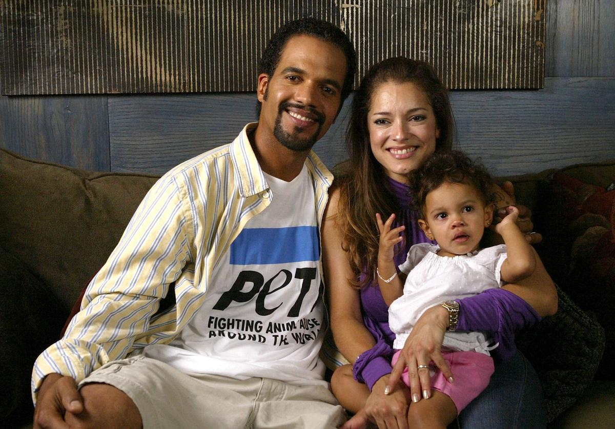 Actor Kristoff St. John and his wife and daughter