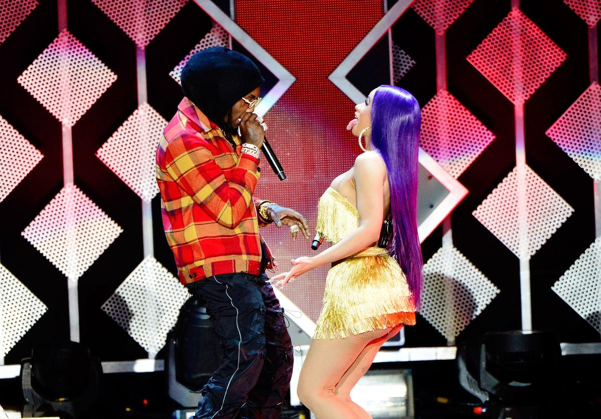 Offset and Cardi B perform at KIIS FM's Jingle Ball 2018 Presented By Capital One at The Forum on November 30, 2018 in Inglewood, California