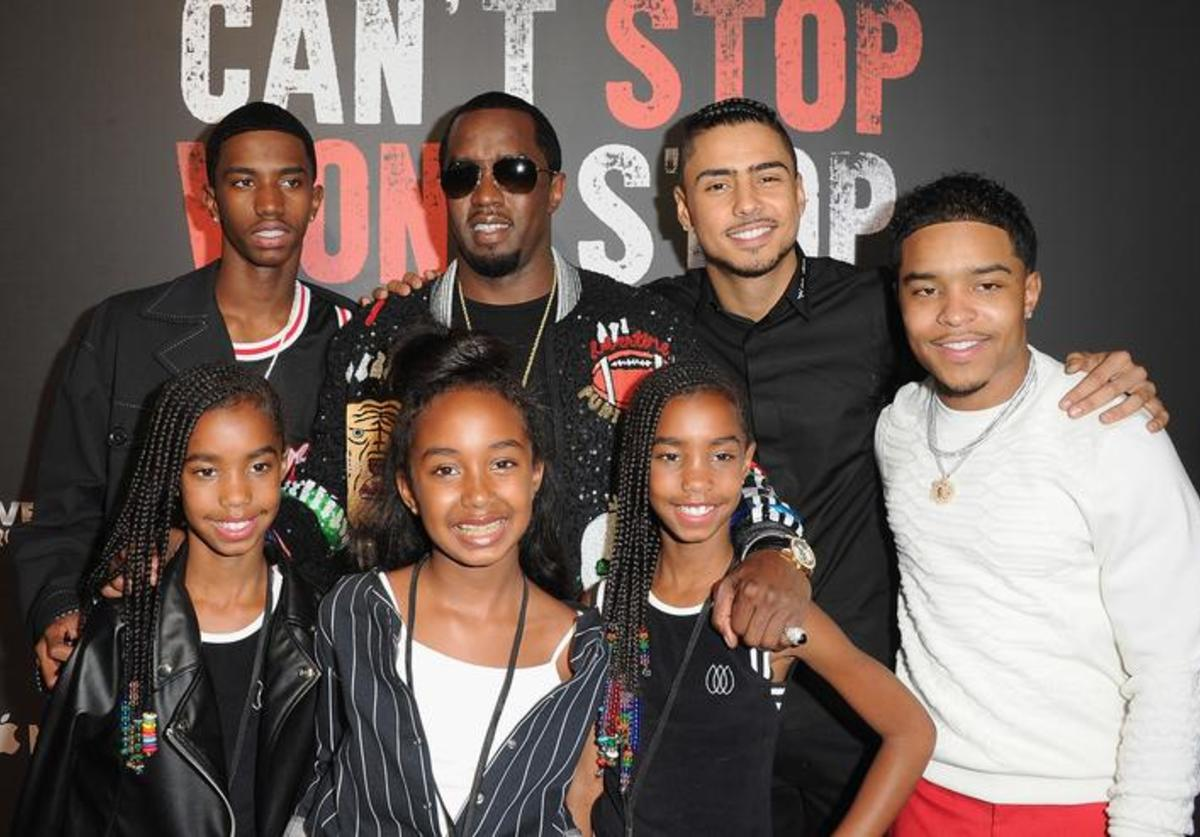 Sean Combs, Quincy Brown, Justin Combs, Christian Combs, Jessie James Combs, D'Lila Star Combs, Chance Combs