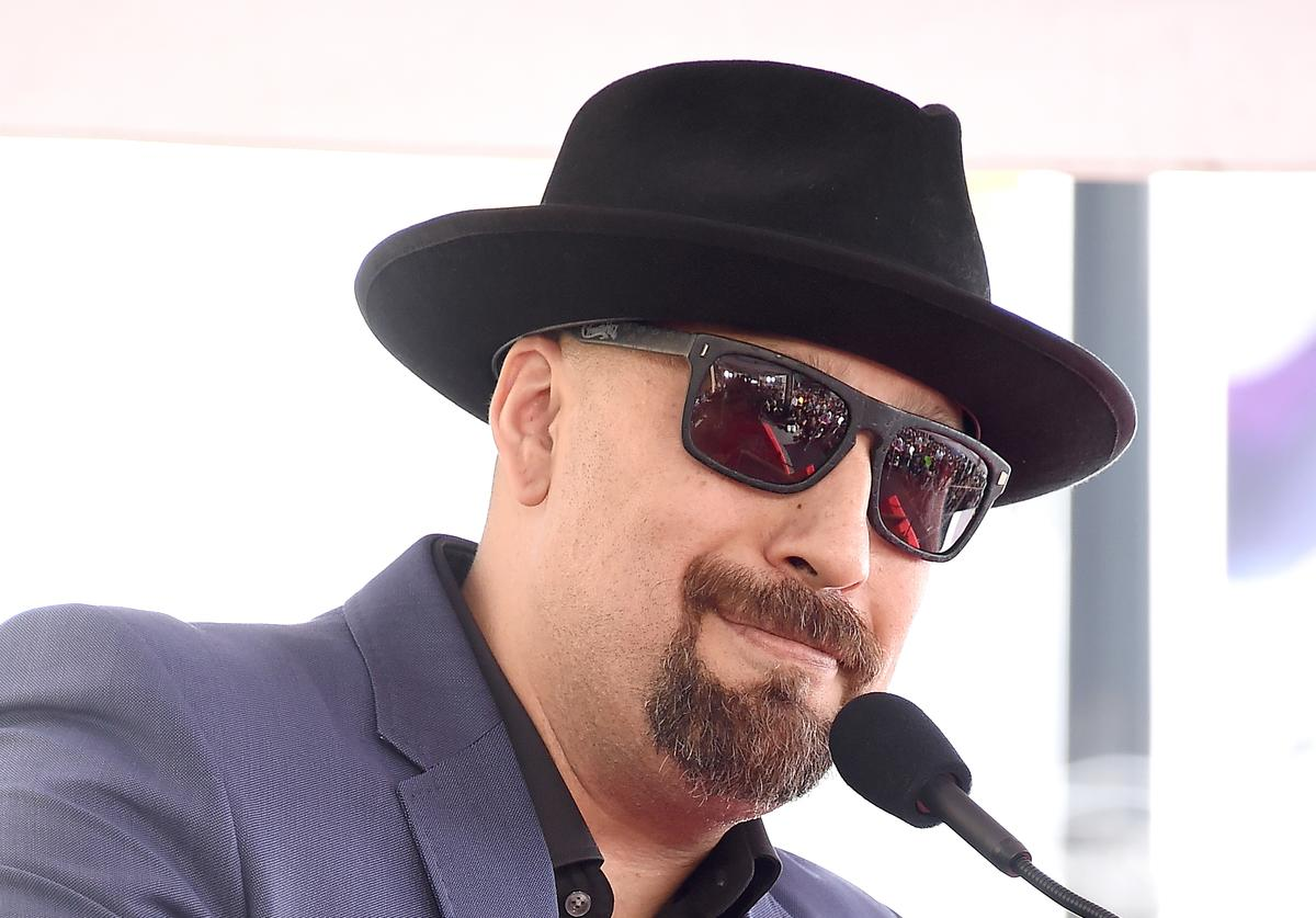 Louis 'B-Real' Freese speaks at the ceremony honoring Cypress Hill with a Star on The Hollywood Walk of Fame on April 18, 2019 in Hollywood, California