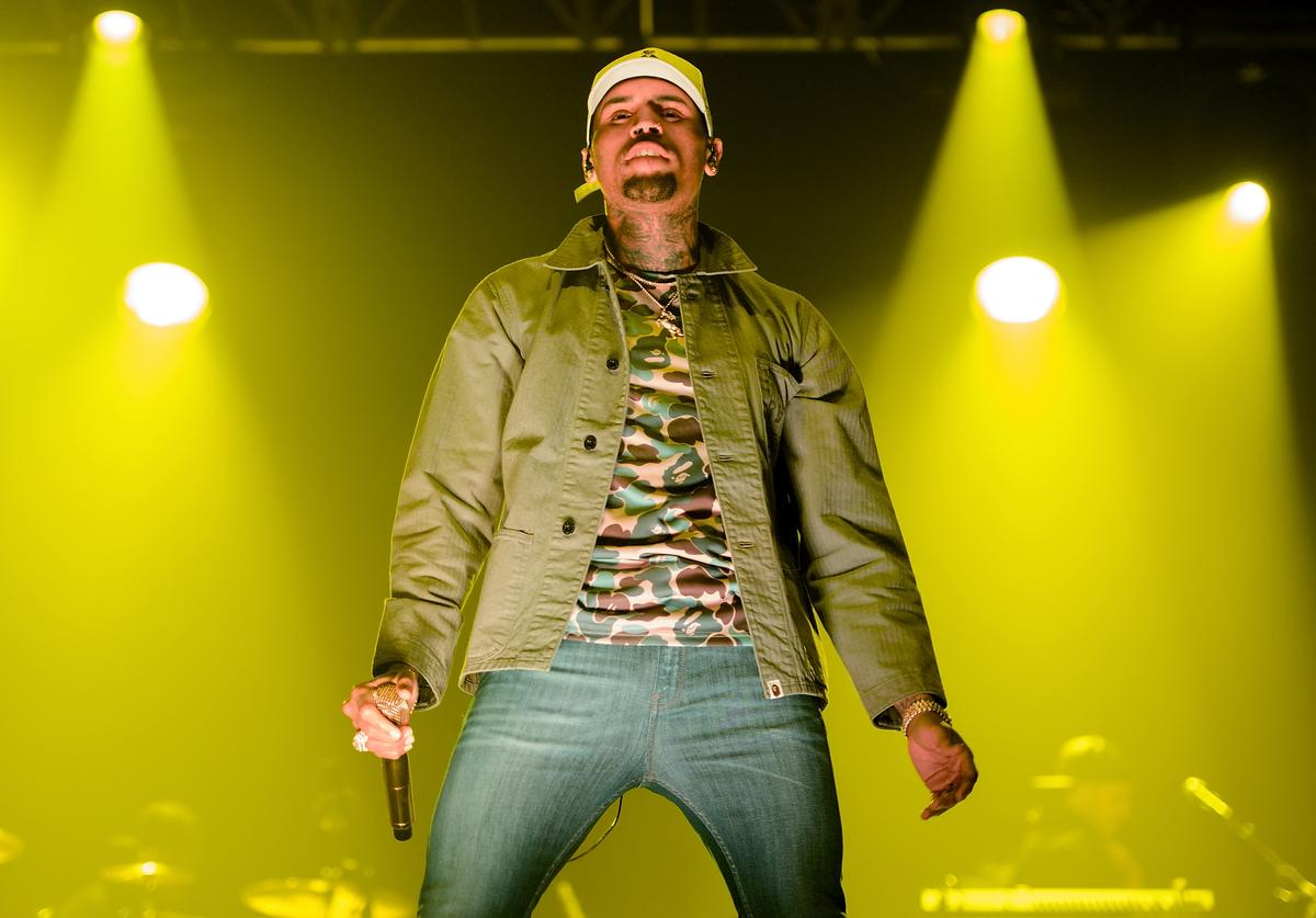 Chris Brown performs during the Royalty Live concert series at Aragon Ballroom on December 13, 2015 in Chicago, Illinois