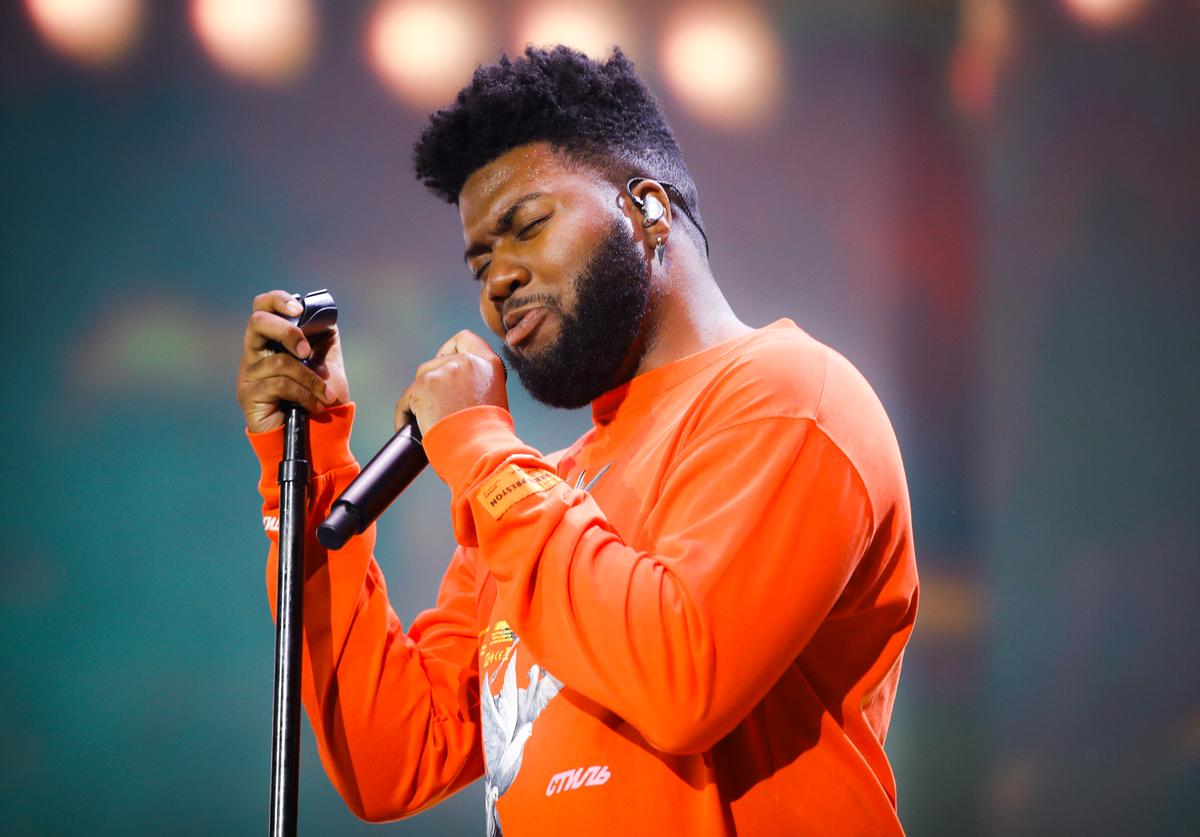Khalid performs on the Coachella Stage during the 2019 Coachella Valley Music And Arts Festival on April 21, 2019 in Indio, California