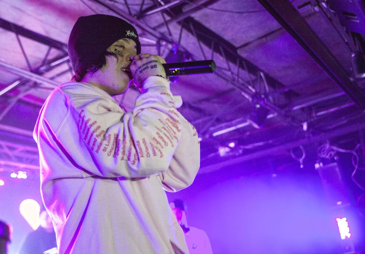 Lil Xan performs at The Underground on October 21, 2018 in Charlotte, North Carolina