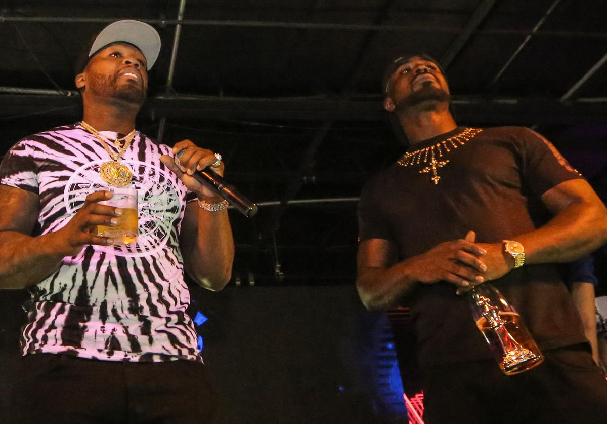 50 Cent and Young Buck perform at Rockwell Miami on May 28, 2018 in Miami Beach, Florida