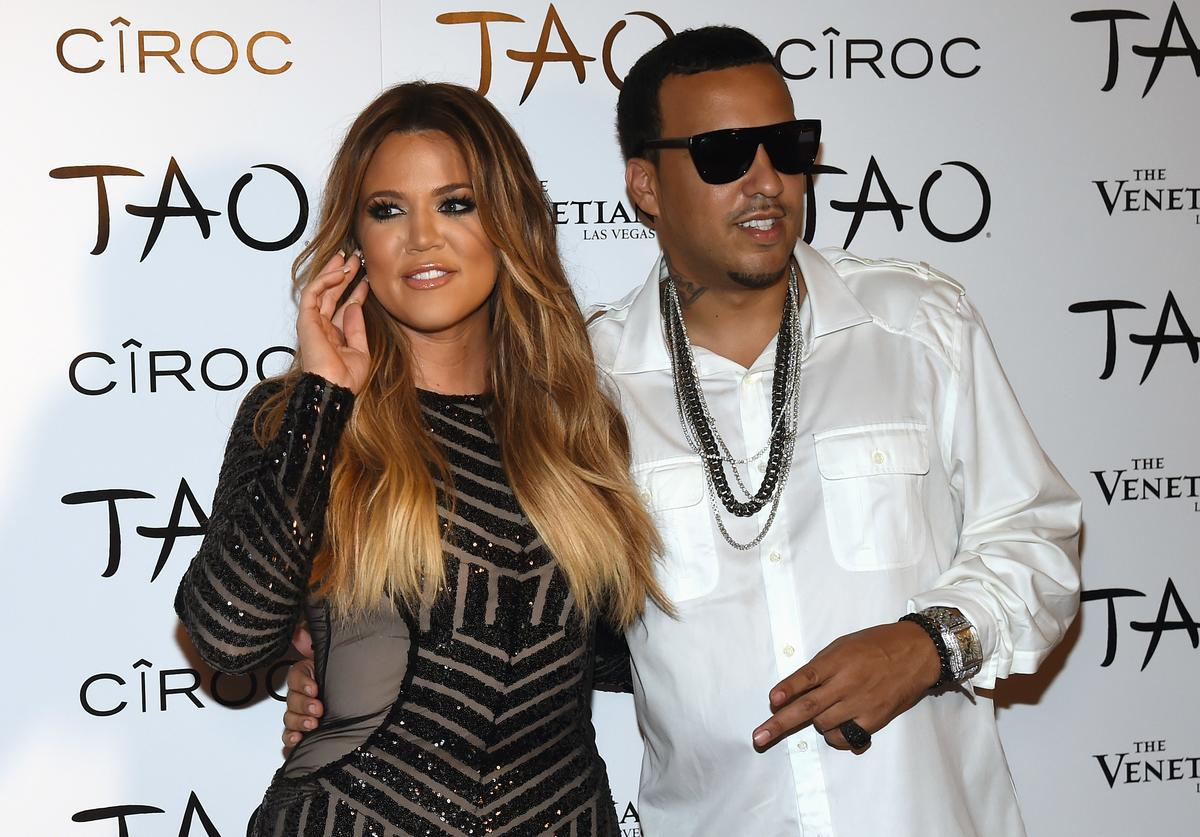 Television personality Khloe Kardashian (L) and rapper French Montana arrive at the Tao Nightclub at The Venetian Las Vegas to celebrate her birthday on July 4, 2014 in Las Vegas, Nevada. Kardashian turned 30 on June 27.
