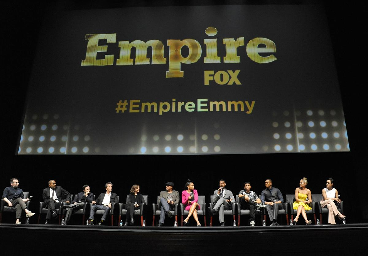 "Cast and crew of ""Empire"" on stage at Fox's ""Empire"" ATAS Academy Event"