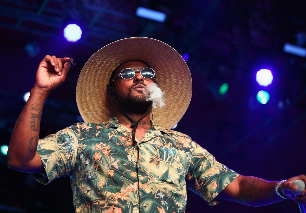 ScHoolboy Q performs with Sir at Gobi Tent during the 2019 Coachella Valley Music And Arts Festival on April 13, 2019 in Indio, California.