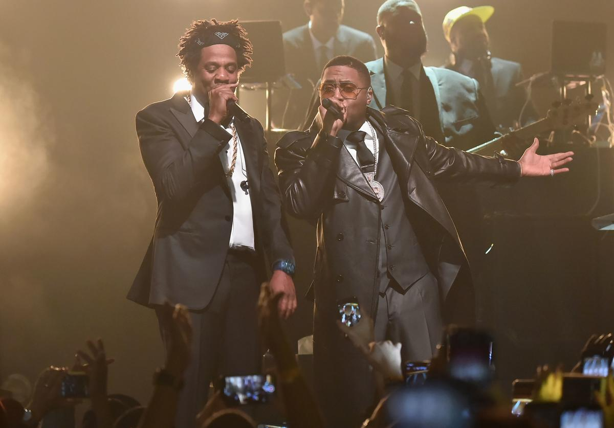 JAY-Z and Nas perform B-Sides 2 at Webster Hall on April 26, 2019 in New York City.