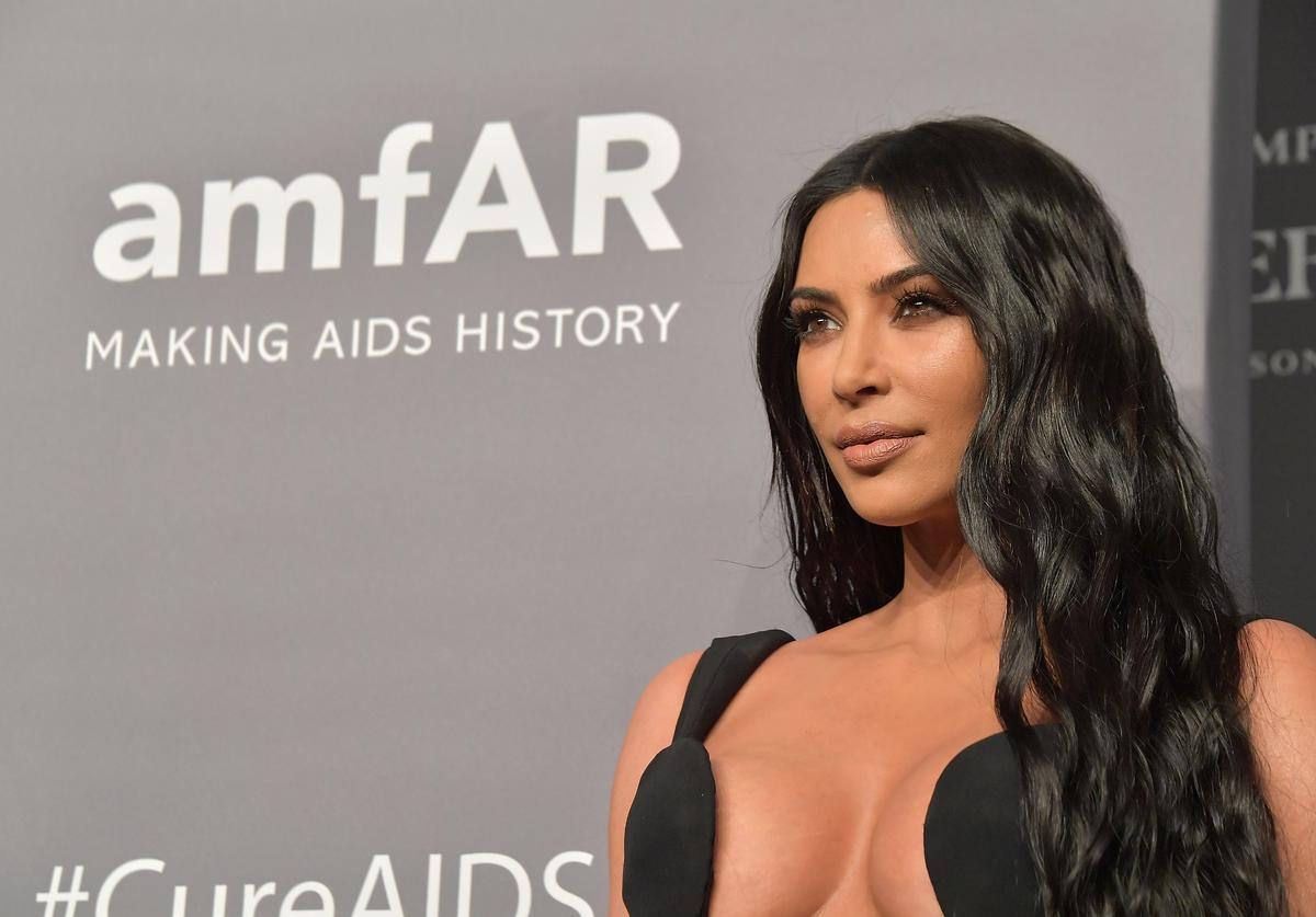 Kim Kardashian West attends the amfAR New York Gala 2019 at Cipriani Wall Street on February 6, 2019 in New York City.
