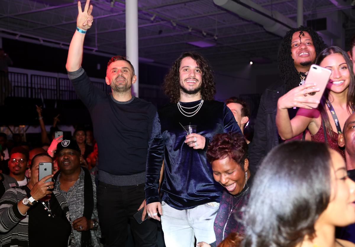 Gary Vaynerchuk and Russ attend VaynerSports x ONE37pm Emerging Kings Party on February 01, 2019 in Atlanta, Georgia.