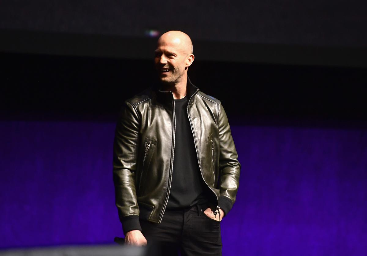 Jason Statham speaks onstage at CinemaCon 2019 Universal Pictures