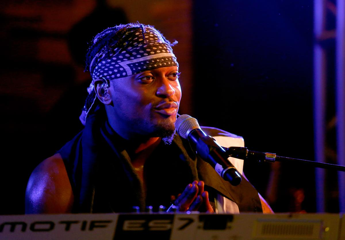 Singer/songwriter D'Angelo performs onstage during the Samsung Supper Club at SXSW 2015