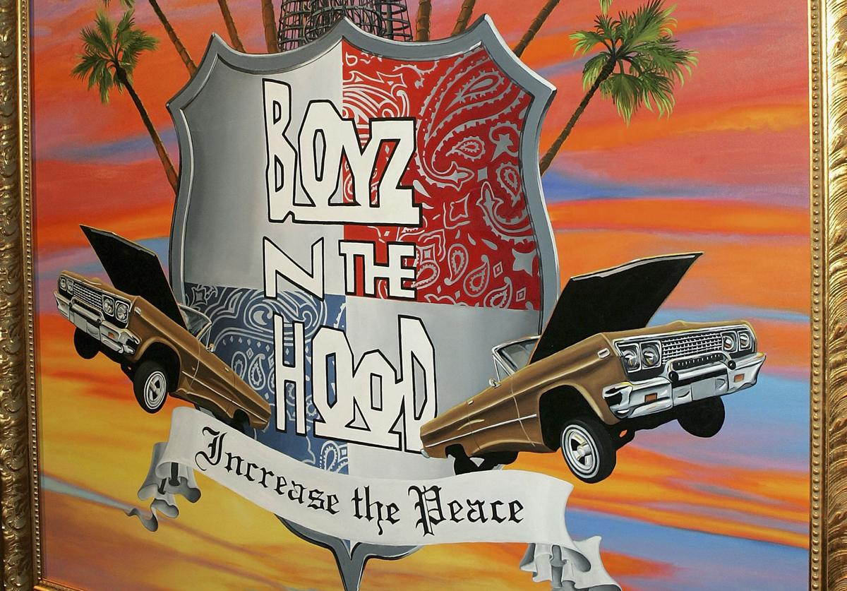 Artist Kehinde Wiley's painting of Boyz N the Hood during VH1's 2005 Hip Hop Honors Pre-party