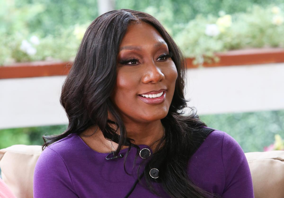 "Towanda Braxton visits Hallmark's ""Home & Family"" at Universal Studios Hollywood on April 03, 2019 in Universal City, California"