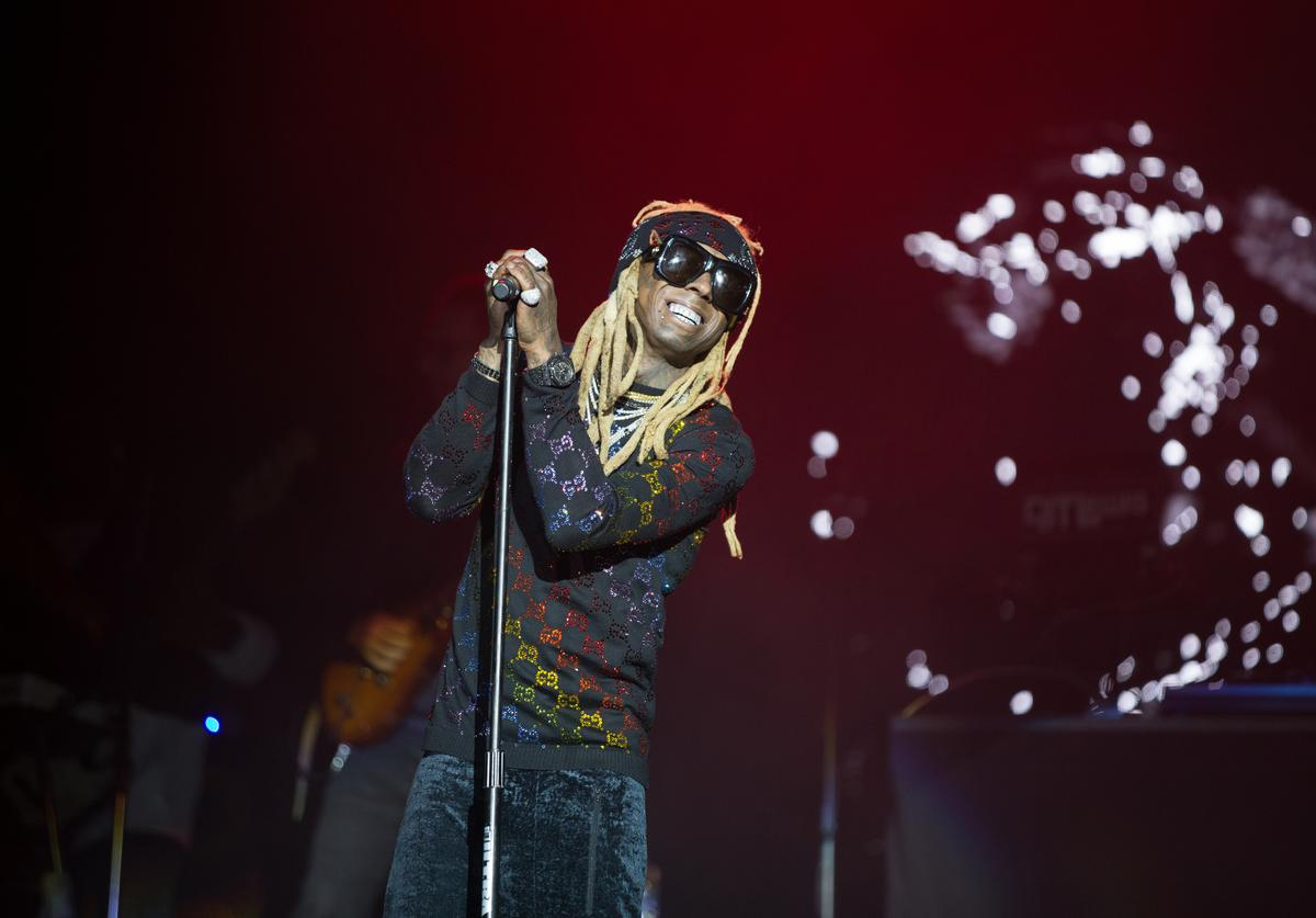Lil Wayne performs live onstage during the 2019 Broccoli City Festival at FedExField on April 27, 2019 in Landover, Maryland