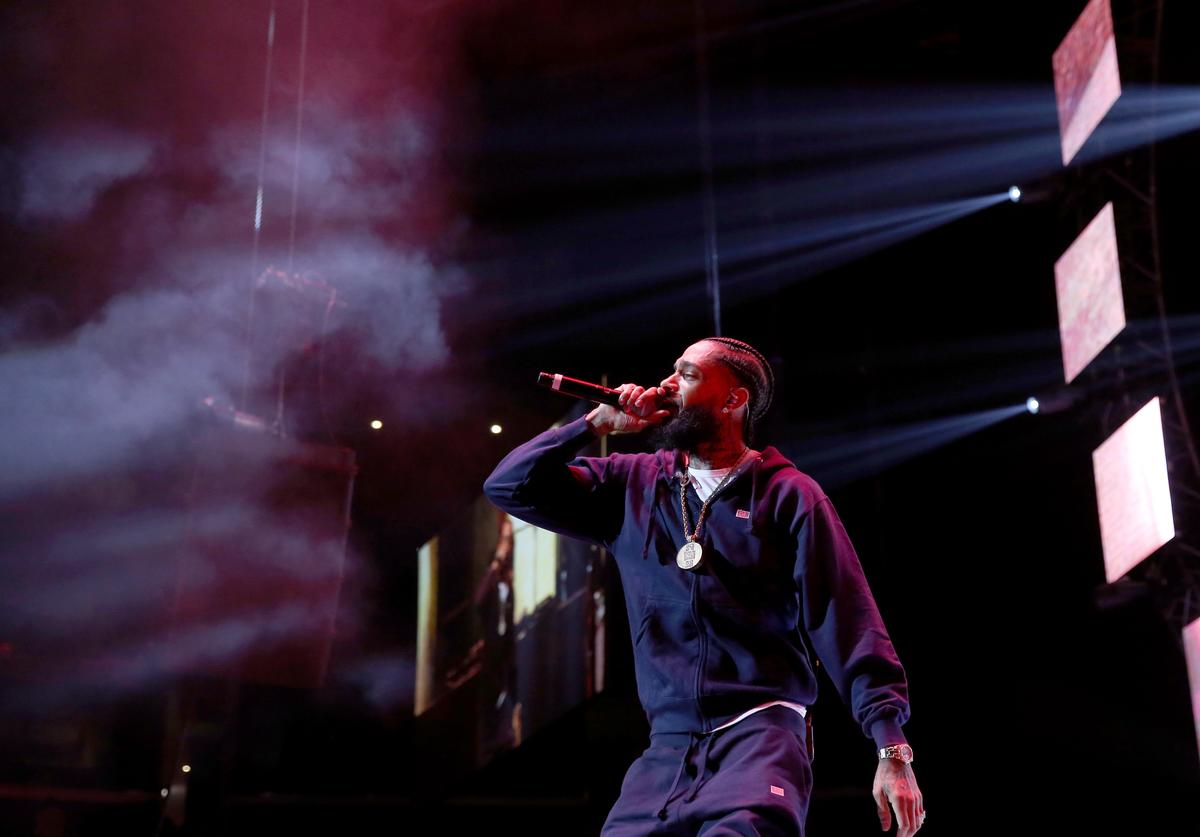 Nipsey Hussle performs onstage at the STAPLES Center Concert Sponsored by SPRITE