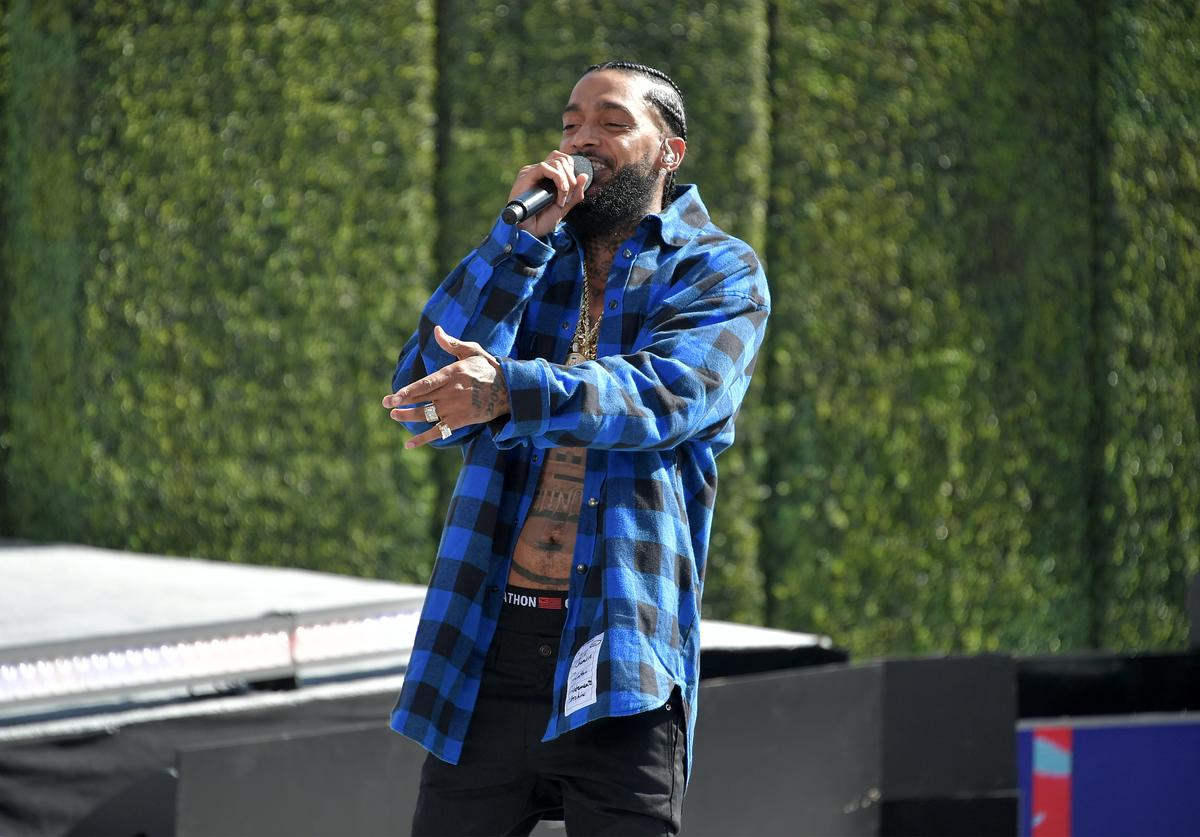 Nipsey Hussle performs onstage at Live! Red! Ready! Pre-Show