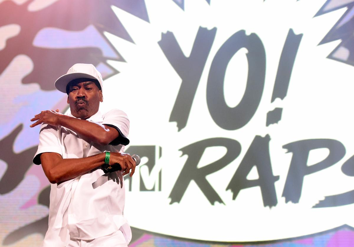 Kurtis Blow performs during the YO! MTV Raps 30th Anniversary Live Event