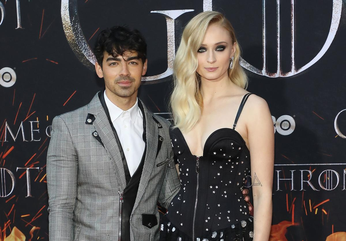 "Joe Jonas and Sophie Turner attend the Season 8 premiere of ""Game of Thrones"" at Radio City Music Hall on April 3, 2019 in New York City"