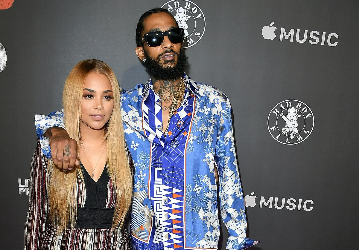 "Lauren London, Nipsey Hussle arrives at the Los Angeles Premiere Of ""Can't Stop Won't Stop"" at Writers Guild of America, West on June 21, 2017 in Los Angeles, California"