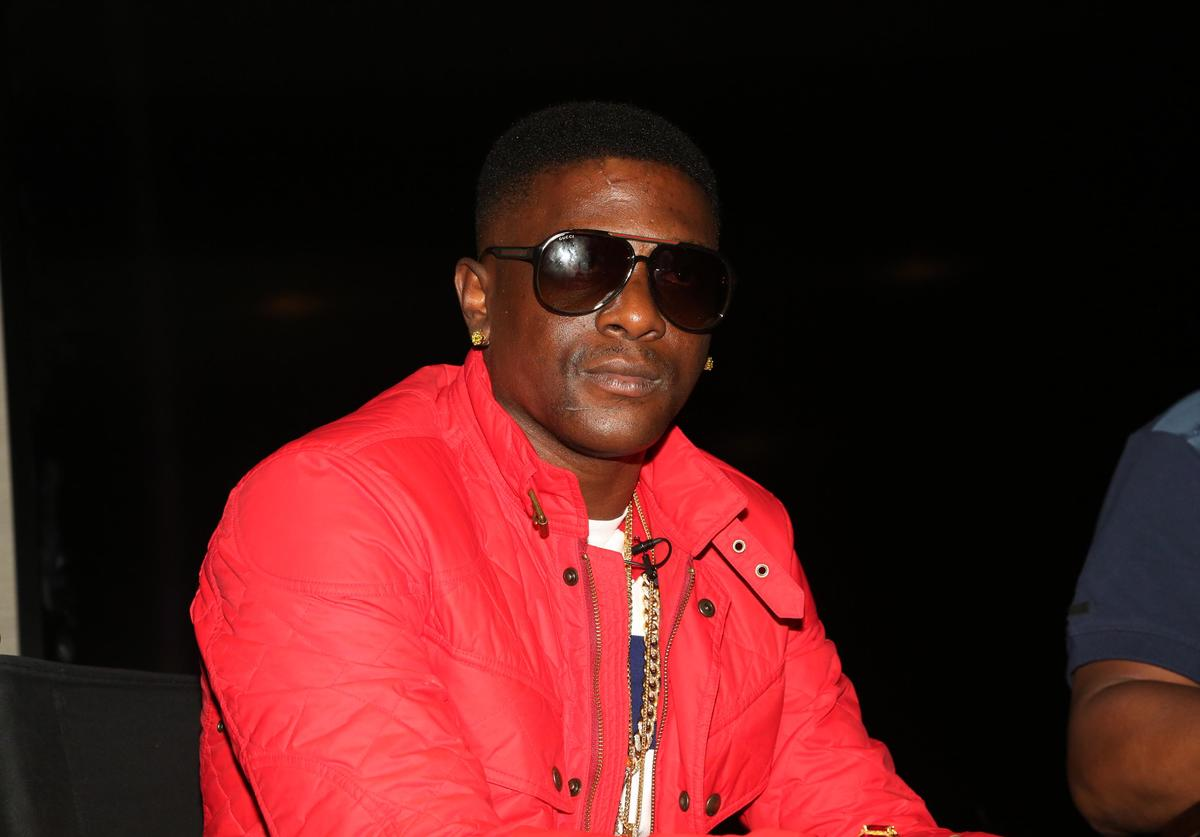 """Boosie Badazz attends his Boosie Badazz """"Touch Down 2 Cause Hell"""" Album Listening Session at Atlantic Records on April 22, 2015, in New York City"""