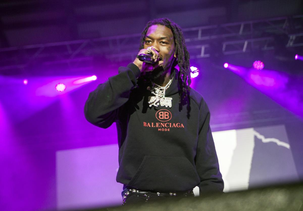 Offset of Migos performs at Charlotte Metro Credit Union Amphitheatre on May 1, 2018 in Charlotte, North Carolina