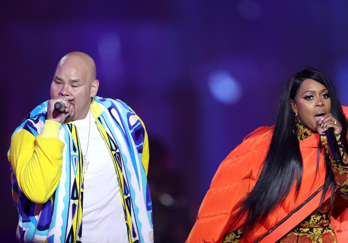 Fat Joe (L) and Remy Ma perform onstage at VH1 Hip Hop Honors: The 90s Game Changers at Paramount Studios on September 17, 2017 in Los Angeles, California