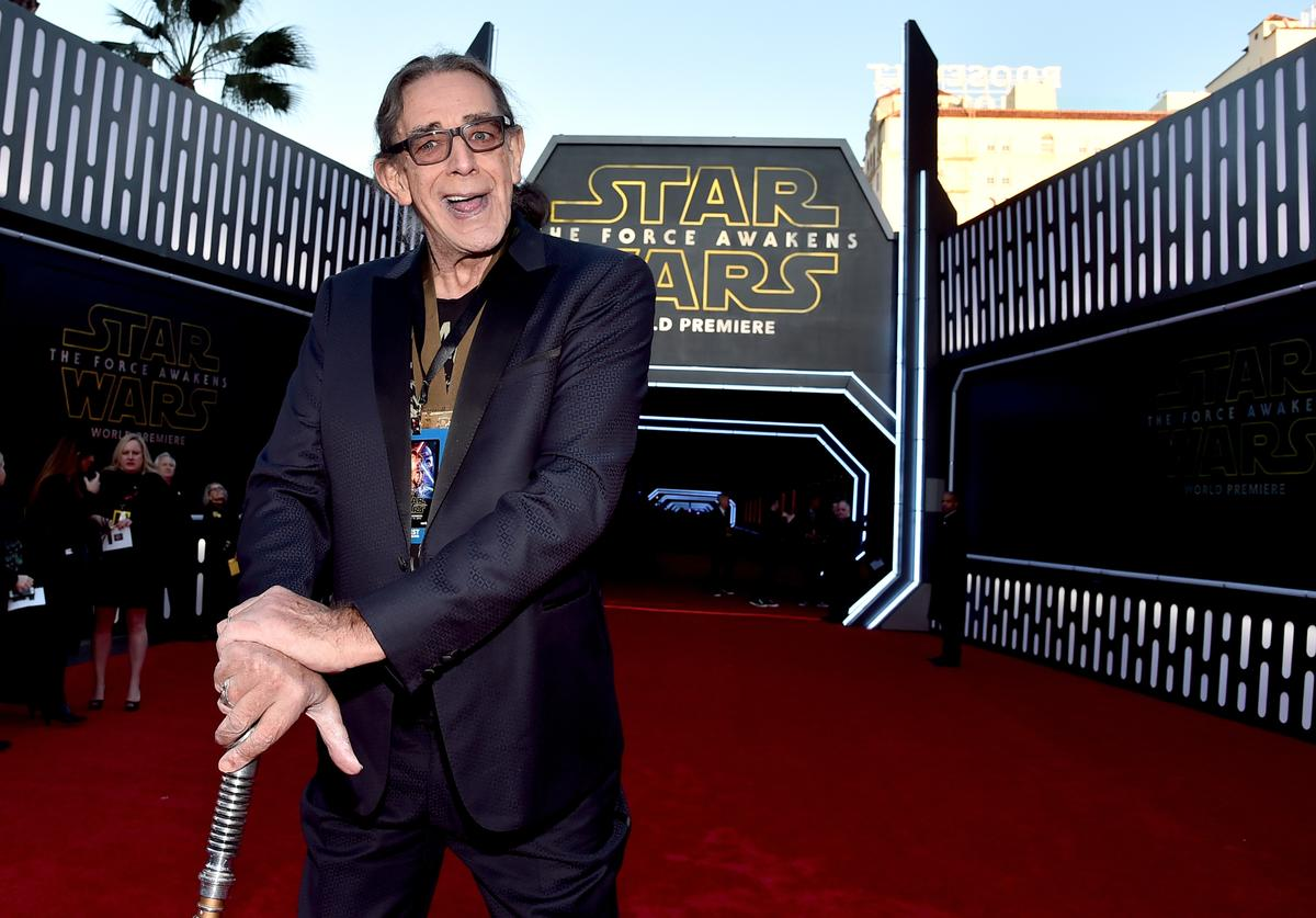 "Actor Peter Mayhew attends the World Premiere of ""Star Wars: The Force Awakens"" at the Dolby, El Capitan, and TCL Theatres on December 14, 2015 in Hollywood, California."