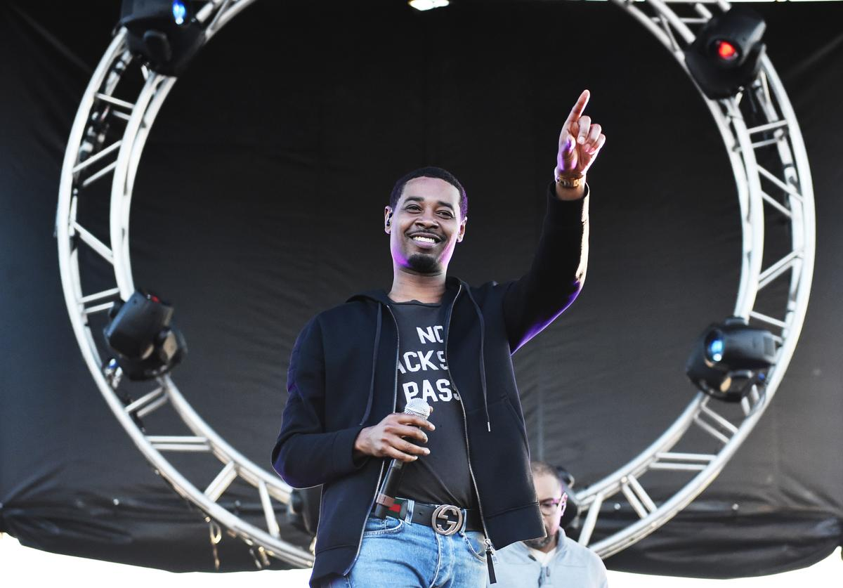 Singer Danny Brown performs at the Growlers 6 festival at the LA Waterfront on October 28, 2017 in San Pedro, California.