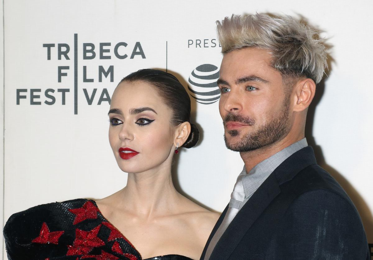 """Lily Collins and Zac Efron attend the screening of """"Extremely Wicked, Shockingly Evil and Vile"""" during the 2019 Tribeca Film Festival at BMCC Tribeca PAC on May 2, 2019 in New York City."""